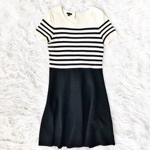 Talbots striped sweater midi dress